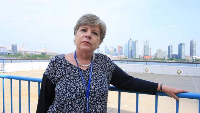 Alicia Bárcena, Secretaria Ejecutiva de la CEPAL, en la sede de las Naciones Unidas en Nueva York