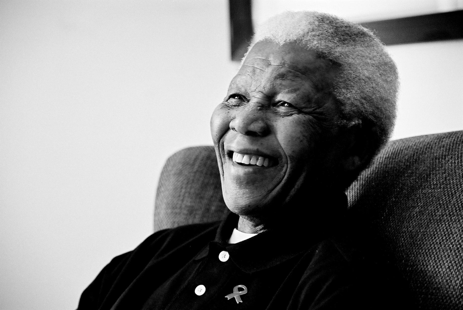 Nelson Mandela, líder sudafricano.