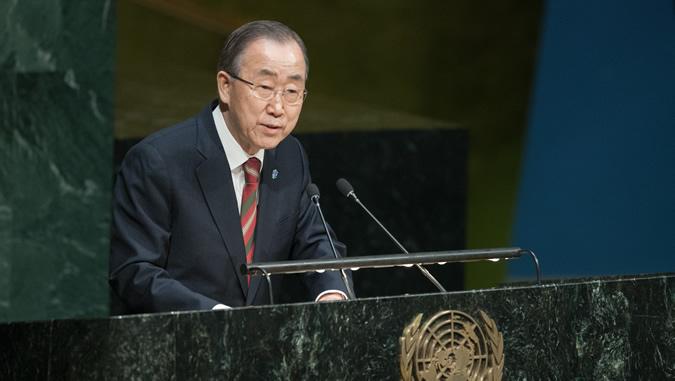El Secretario General de las Naciones Unidas, Ban Ki-moon, en una foto de archivo.