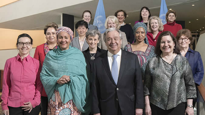 The United Nations Secretary-General António Guterres with his Senior Management Group.