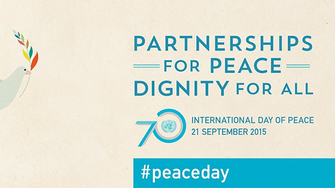 Banner on the International Day of Peace.