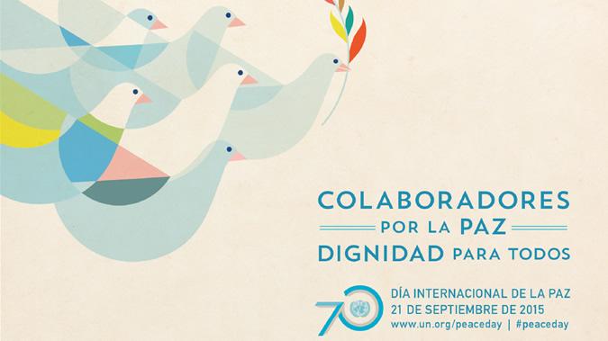 Cartel del Día Internacional de la Paz.