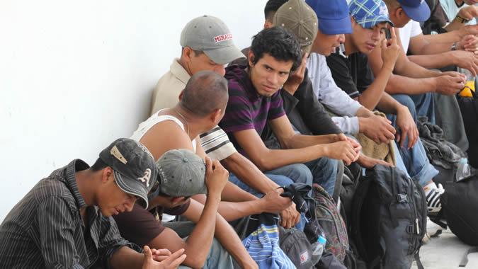 foto de migrantes latinoamericanos