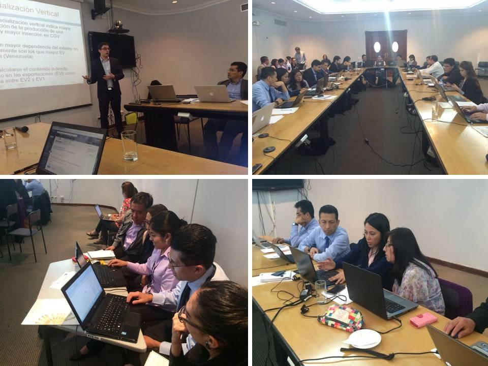 Montaje de fotos mostrando la entrega del curso