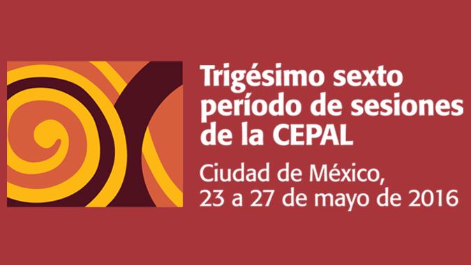 Banner 36 período de sesiones de la CEPAL