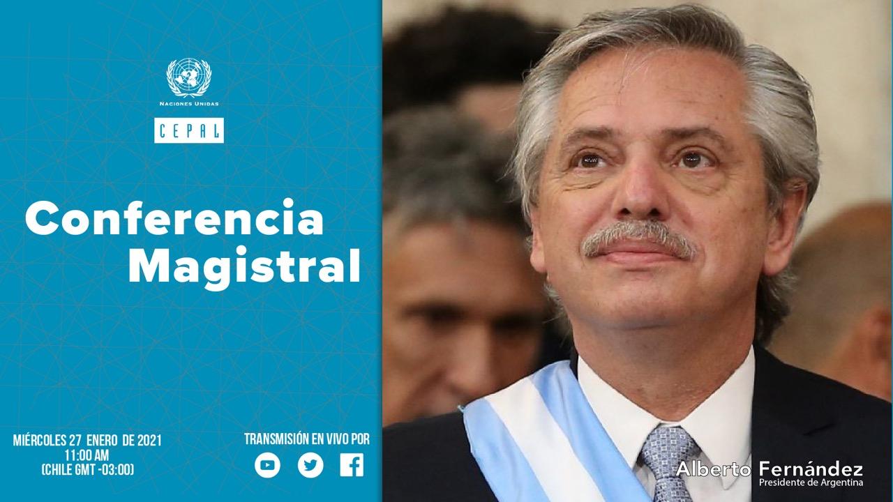 Imagen de Alberto Fernández, Presidente de la República Argentina.