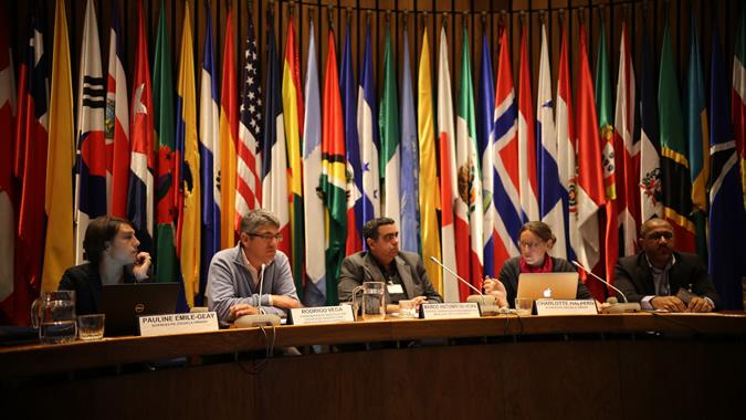 Imagen del panel del seminario Coordinación entre múltiples actores para una movilidad urbana sostenible en América Latina y el Caribe.