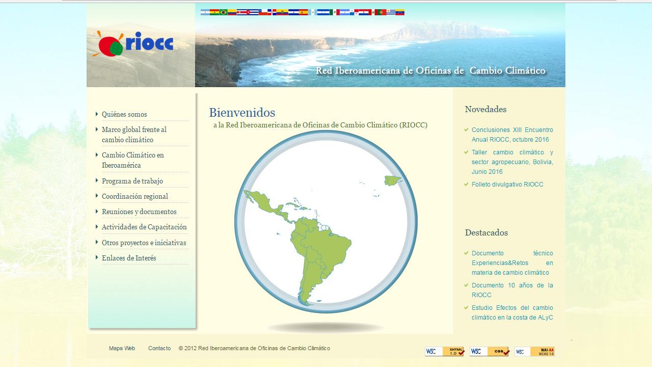 Página web RIOCC
