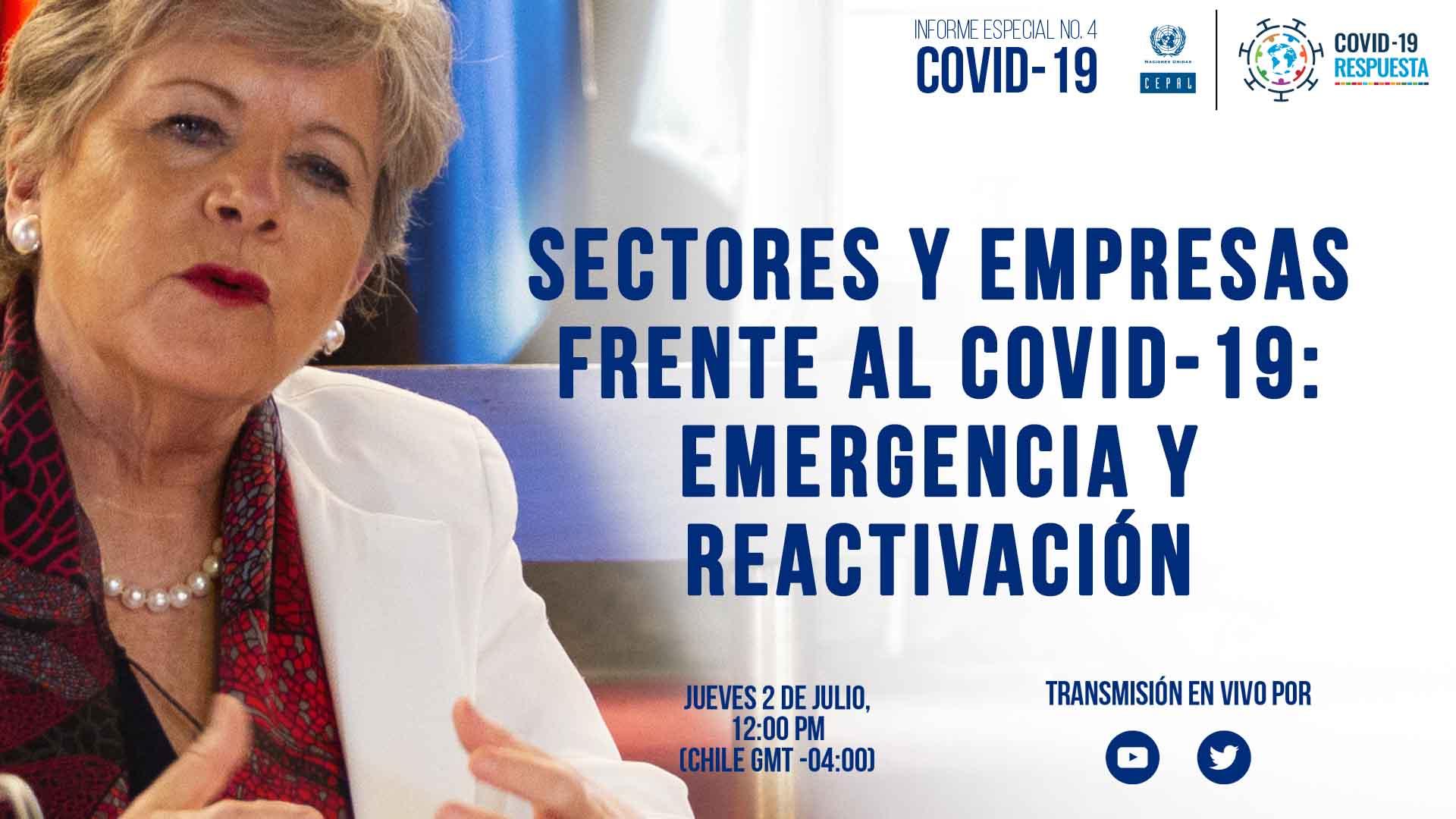 Banner anuncio Informe Especial COVID-19 No. 4 de la CEPAL