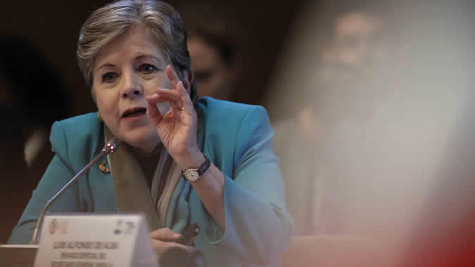 Alicia Bárcena, ECLAC Executive Secretary, during her presentation in the Forum of the Countries of LAC 2019