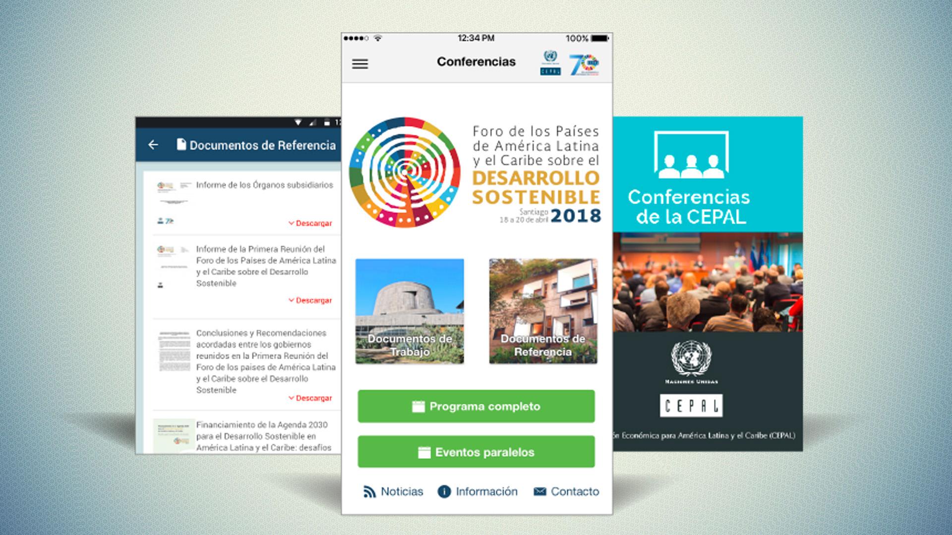 Imagen app Foro de Desarrollo Sostenible 2018