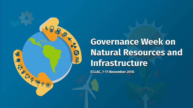 Governance Week on Natural Resources and Infrastructure logo