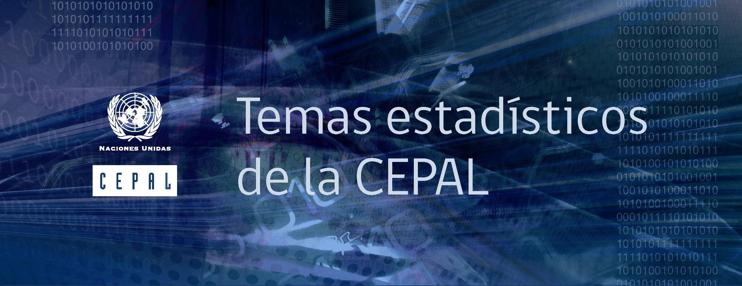 Banner Temas estadísticos de la CEPAL