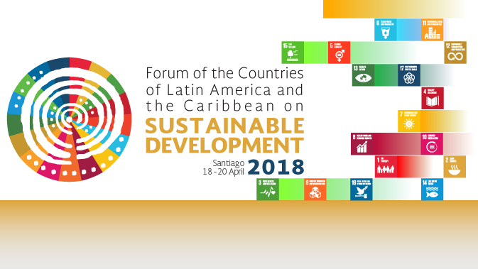 Banner of the seconf meeting of the Forum of the Countries on Sustainable Development