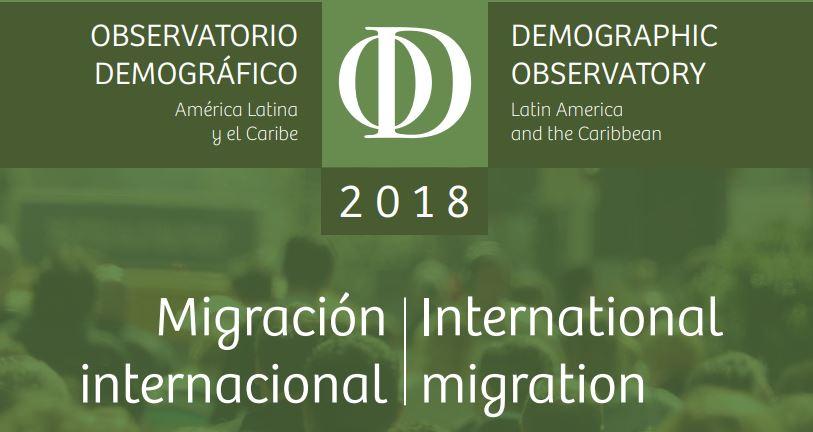 observatorio demográfico 2018 migración internacional