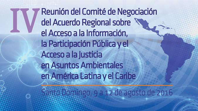 Banner Cuarta reunión Comité de Negociación Principio 10