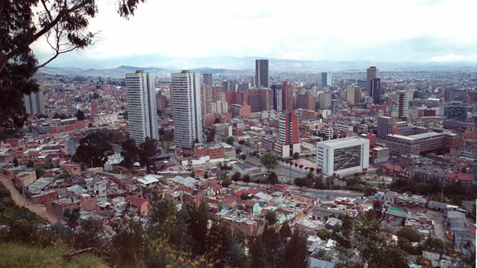 View of Colombia's capital.