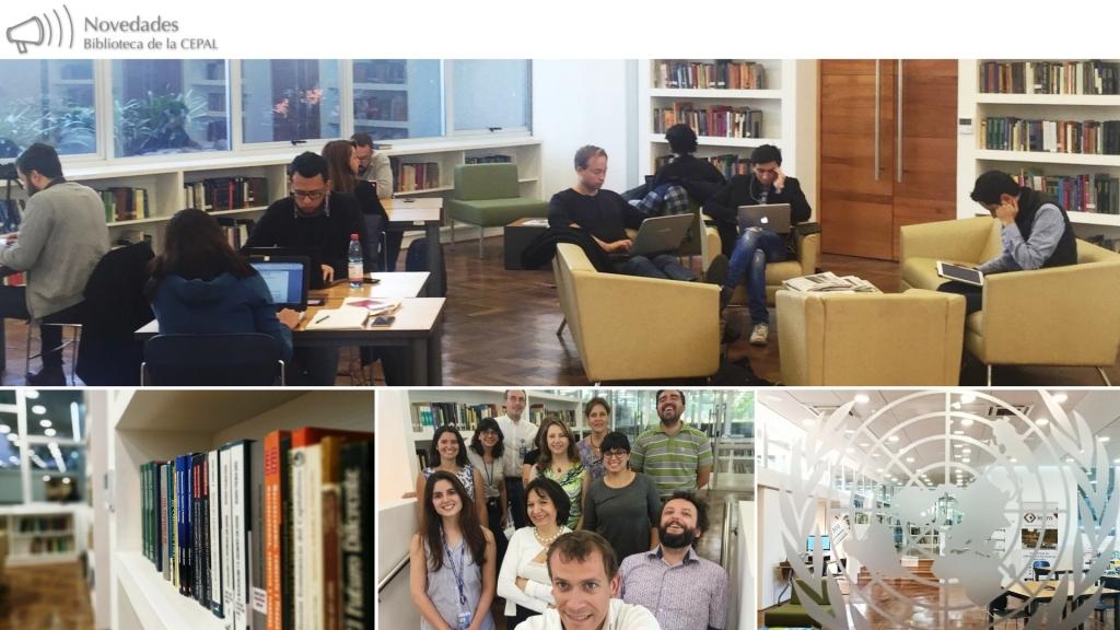 Collage de fotografías de la Biblioteca