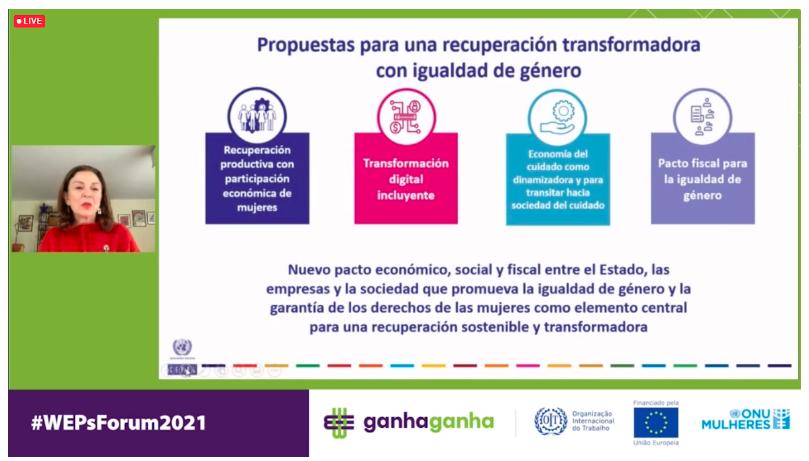 CEPAL propone en Foro WEPs una recuperación transformadora con igualdad y sostenibilidad