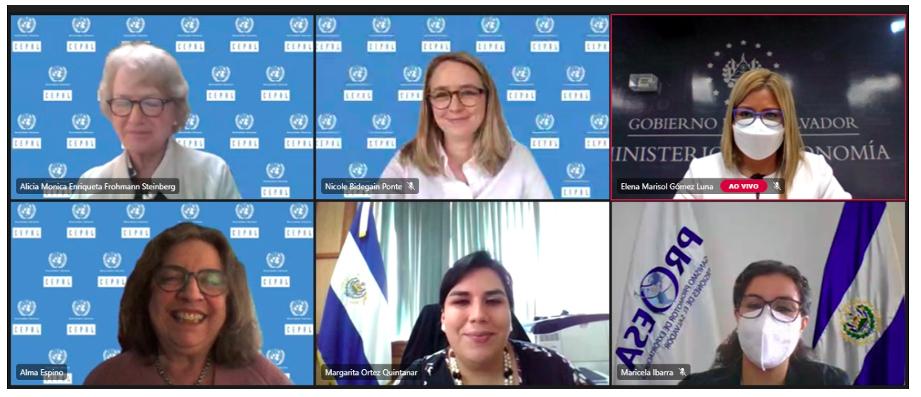 """CEPAL aporta a la reflexión sobre el diseño de políticas comerciales desde un enfoque de género en El Salvador en el seminario sobre """"Comercio Internacional e incorporación del principio de igualdad de género y no discriminación en los tratados comerciales"""""""