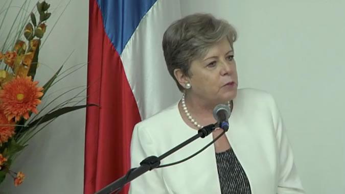 Alicia Bárcena, Secertaria Ejecutiva de la CEPAL, durante su presentación.