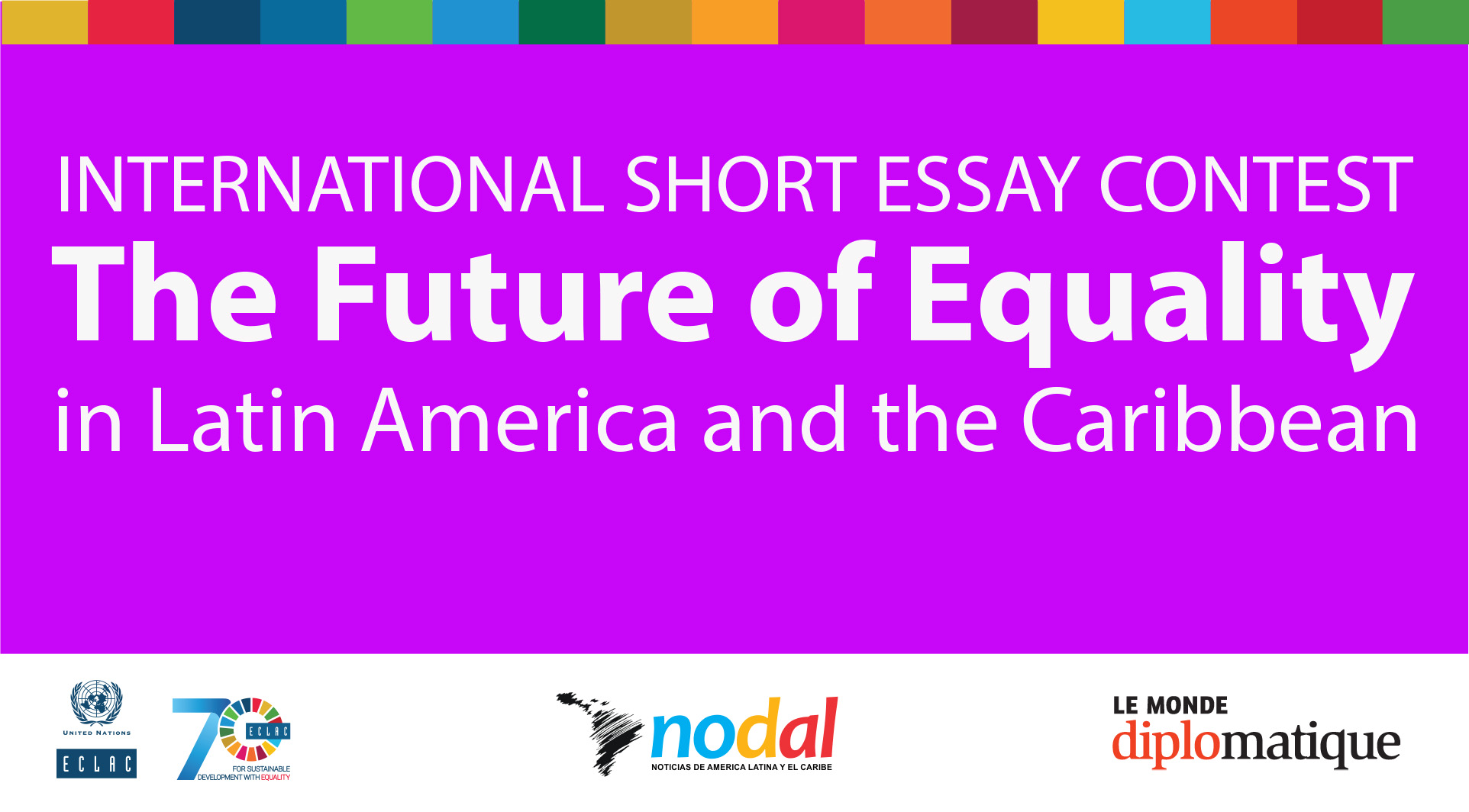 Apa Format For Essay Paper International Short Essay Contest The Future Of Equality In Latin America  And The Caribbean Banner High School Admission Essay Examples also Essay Mahatma Gandhi English Eclac Announces Winners Of International Short Essay Contest About  Cause And Effect Essay Topics For High School