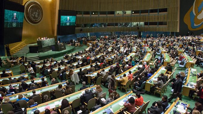 foto de la inauguración del 59 período de sesiones en la sede de la ONU en Nueva York
