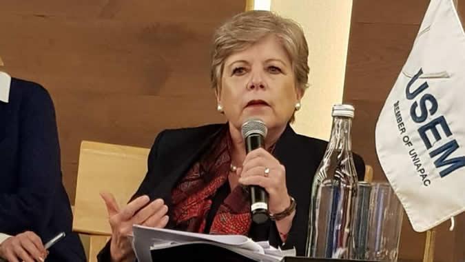 Alicia Bárcena, Secretaria Ejecutiva de la CEPAL, durante el evento realizado el 18 de febrero en Ciudad de México