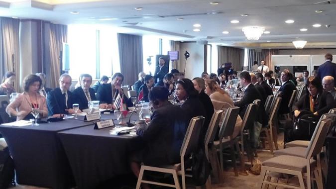 Delegados en reunión Principio 10