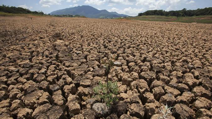 Paisaje afectado por la sequía en Brasil.