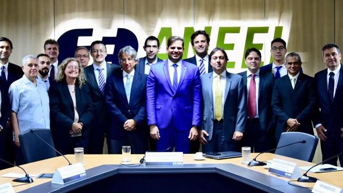 Grupo de trabalho para o lançamento dos resultados do programa ECOSUD/Brasil no escritório da ANEEL, em Brasil