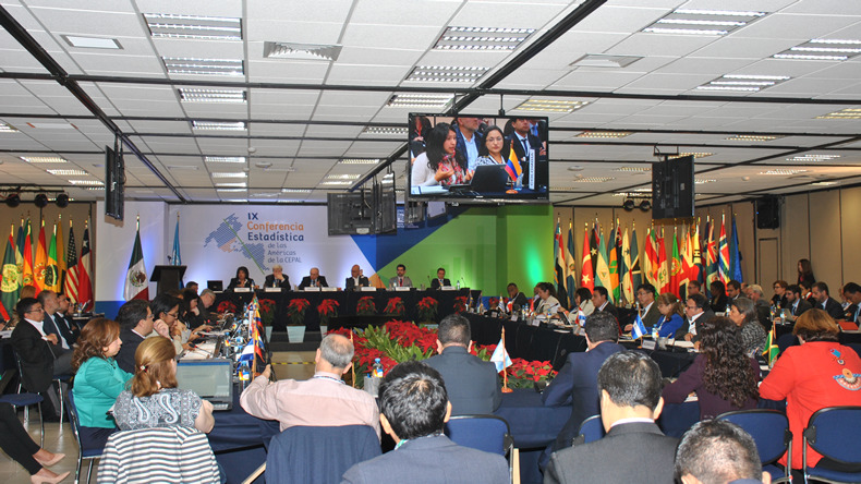 Imagen del segundo día de la IX reunión Conferencia Estadística de las Américas.