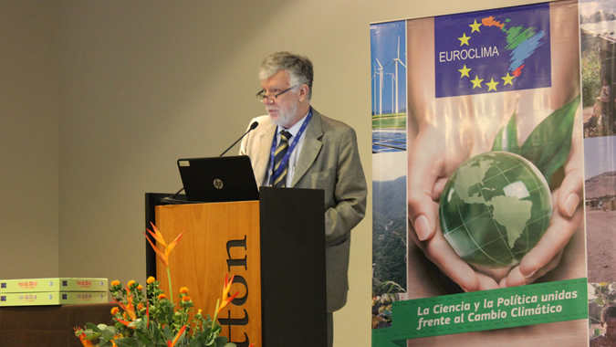 Antonio Prado, ECLAC Deputy Executive Secretary, during the presentation of the EUROCLIMA programme.