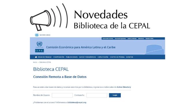 Página Login de plataforma EZProxy - Biblioteca de la CEPAL
