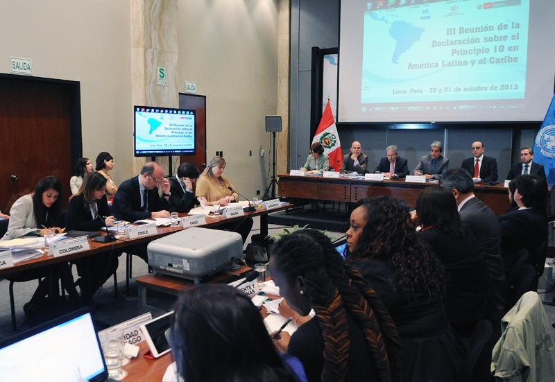 Tercera Reunión de los Puntos Focales de los Países Signatarios de la Declaración Principio 10
