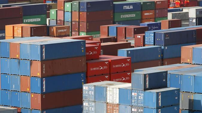 Imagen de contenedores en un puerto de China.