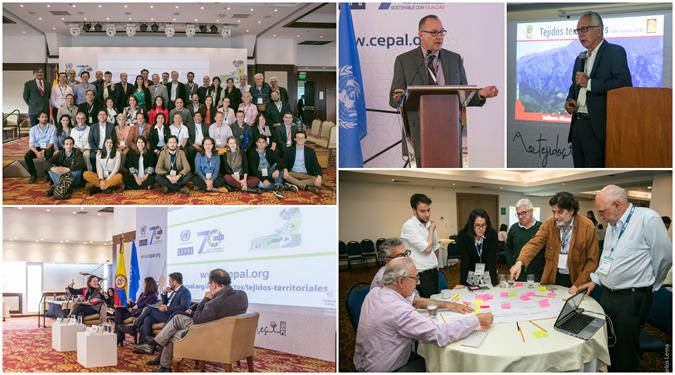 Collage de fotos del los diálogos territoriales en Colombia