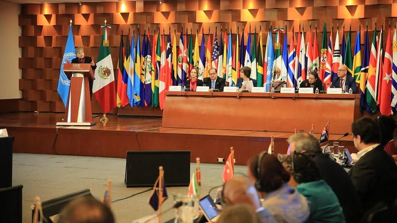 Foto de archivo de la Tercera Conferencia Regional sobre Desarrollo Social realizada en México en 2019.