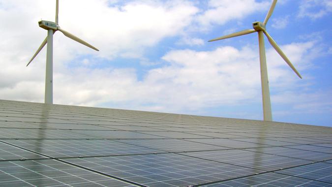 Foto de paneles solares.