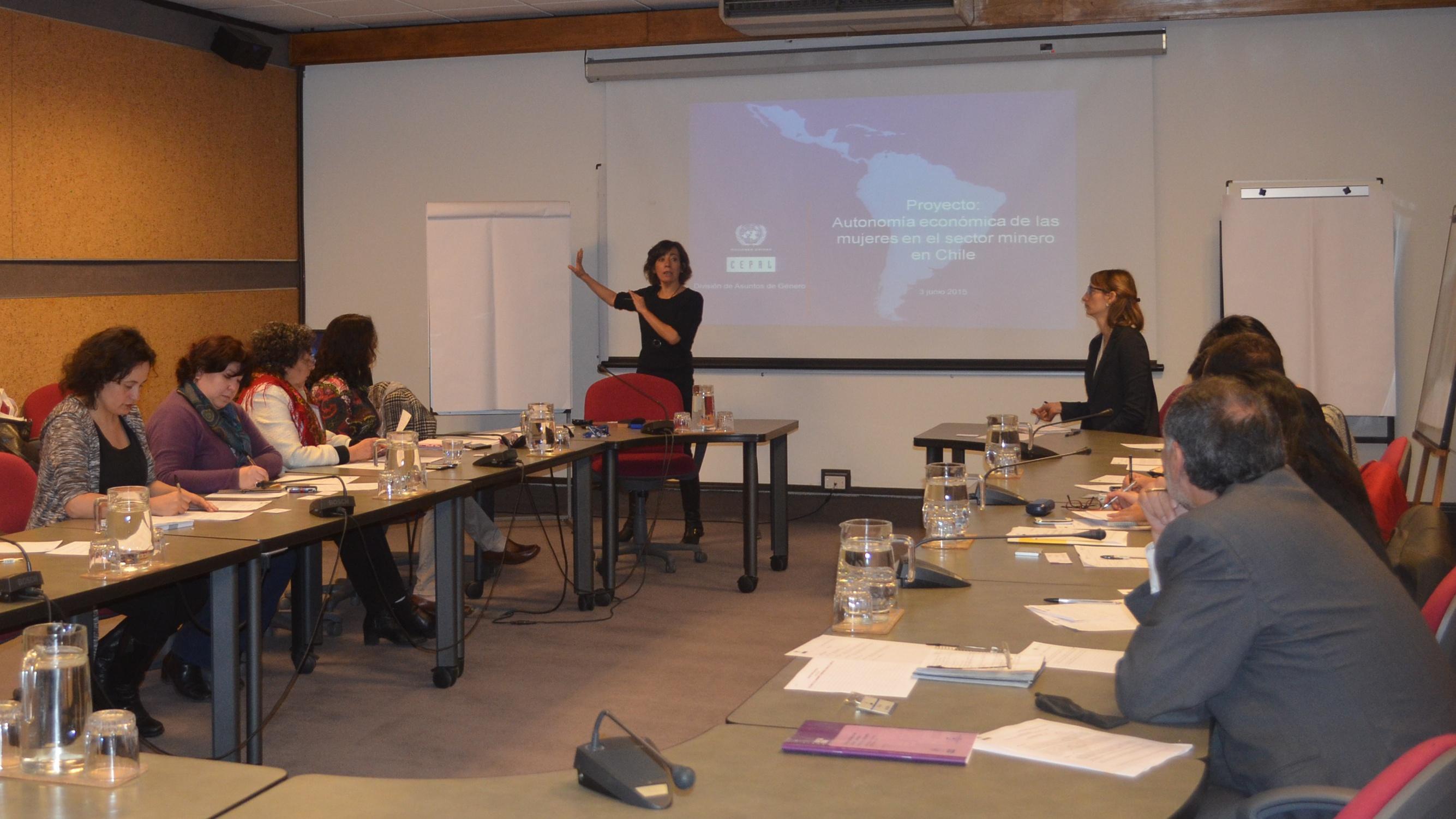 Reunión de trabajo: Las mujeres y la minería en Chile
