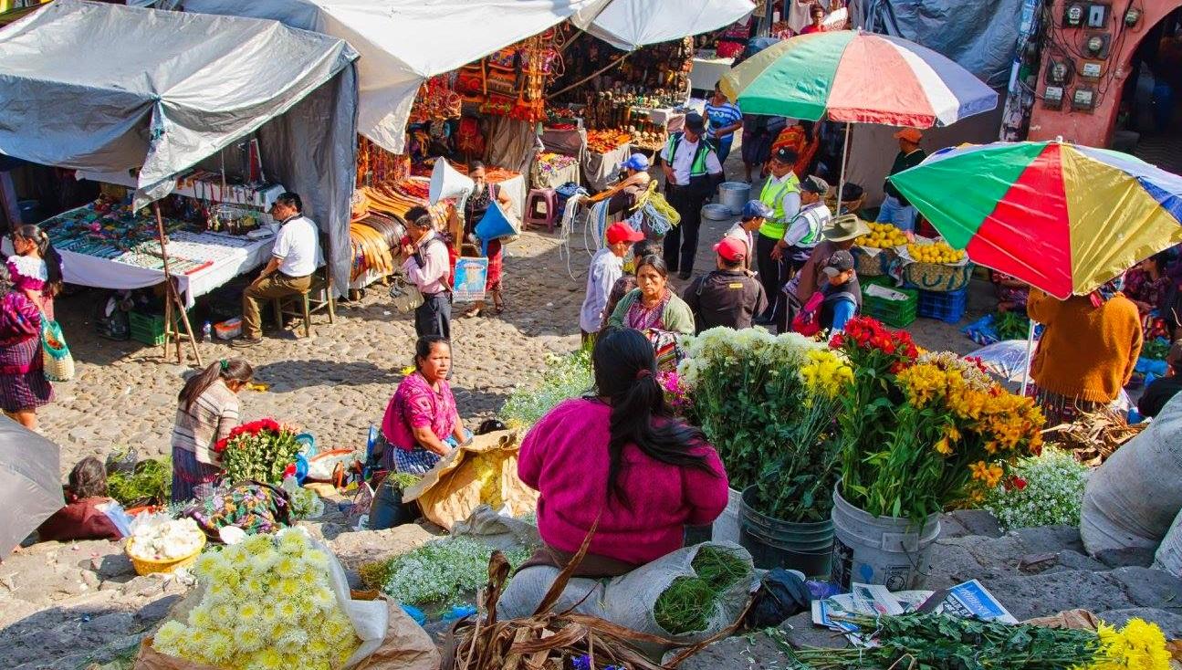 Mercado en Antigua Guatemala