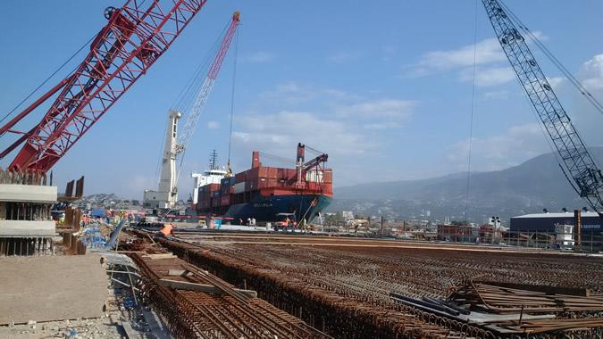 Foto del puerto de Puerto Príncipe, en Haití