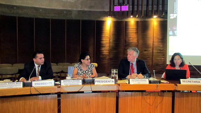 Imagen de la testera durante la XXVI Reunión de la Mesa Directiva del Consejo Regional de Planificación.