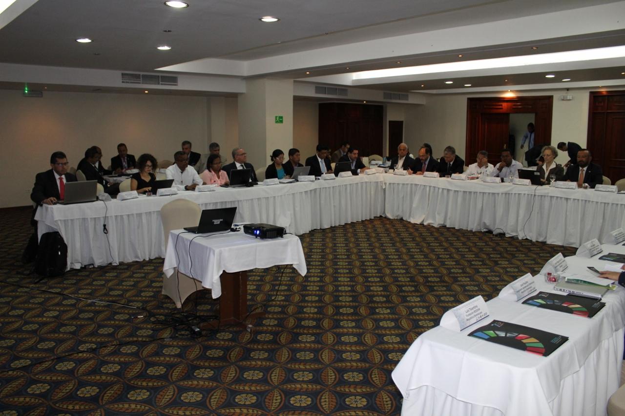 Foto de la reunión de la comunidad de práctica sobre seguros agropecuarios y gestión integral de riesgos en los países de la región SICA que tuvo lugar en República Dominicana en junio de 2018.