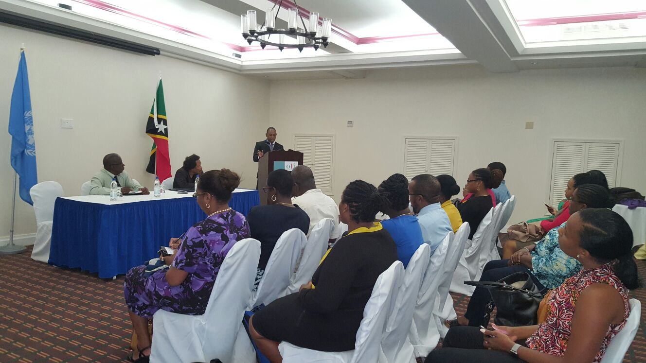 In the photo Mr. Calvin Edwards, Deputy Financial Secretary, Ministry of Finance, Saint Kitts and Nevis