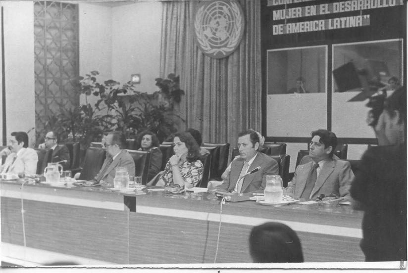 Inauguración de la primera Conferencia Regional sobre la Mujer en América Latina y el Caribe. La Habana, 1977.