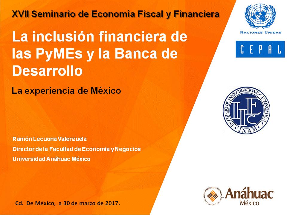 Inclusion Financiera de las PyMEs en Mexico