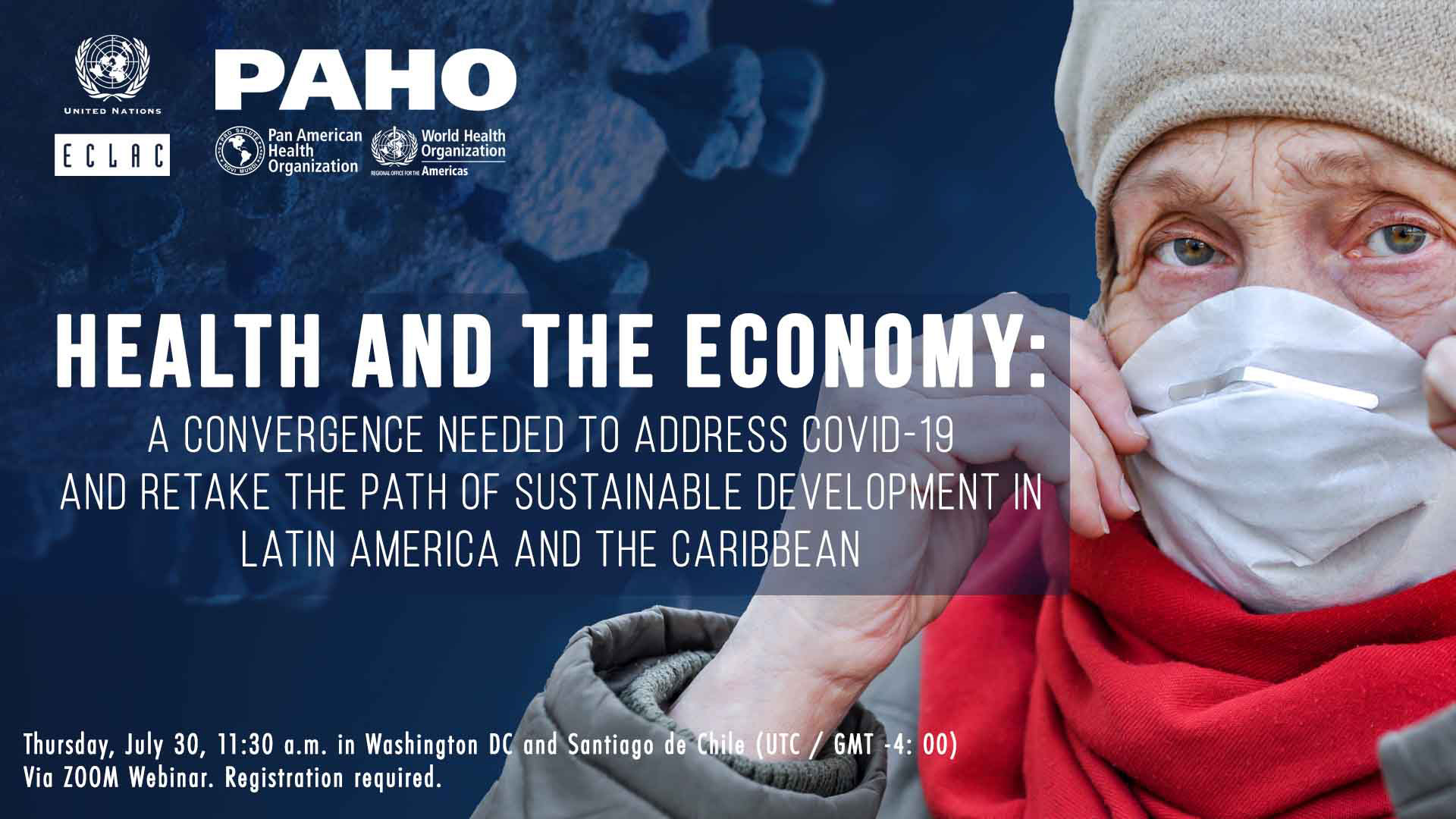 Banner ECLAC-PAHO report on health and the economy