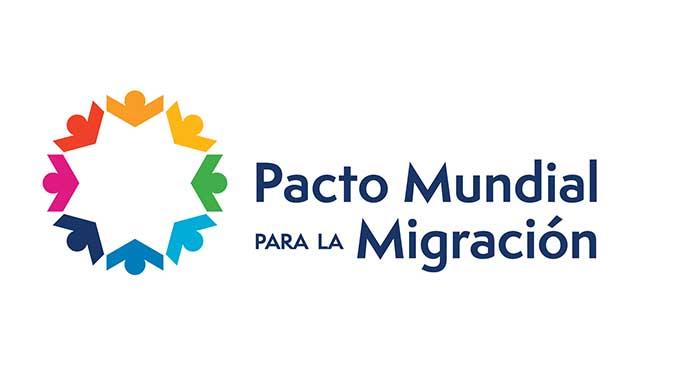 Logo del Pacto Mundial para la Migración.