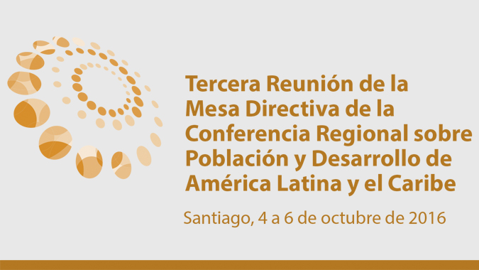 Banner de la Tercera Reunión de la Mesa Directiva de la Conferencia Regional sobre Población y Desarrollo.